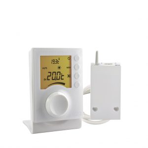 6053002 - Delta-Dore-Tybox-33-Wireless-Room-Thermostat-with-temperature-selector-dial-pre-cabled-Receiver