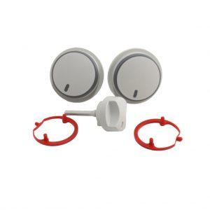 0020048969 - Control-Knob-Kit-of-3-Grey